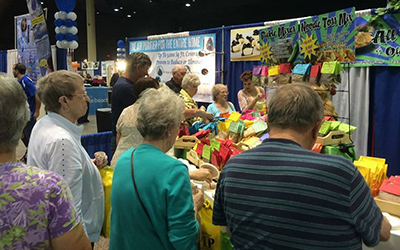Crowd at Home Show Booth